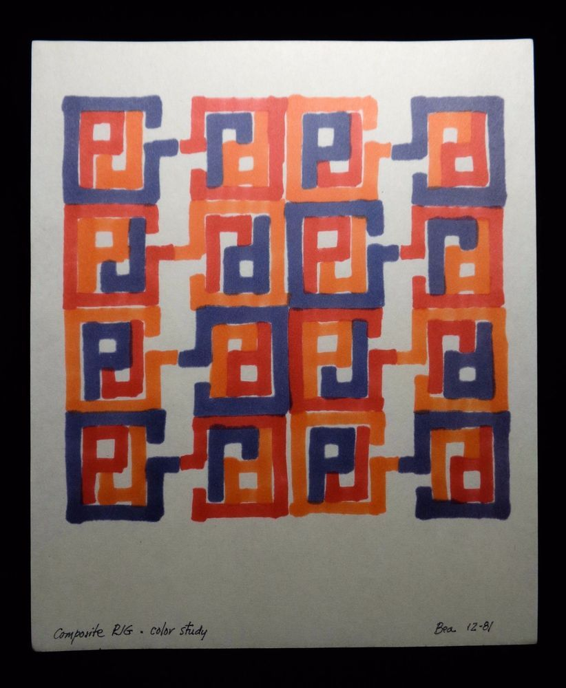 BEATRIZ GRAYSON SIGNED COLOR INK 'COMPOSITE PJG-COLOR