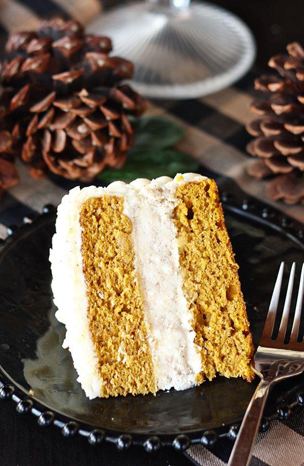 Pumpkin cheesecake  layer cake