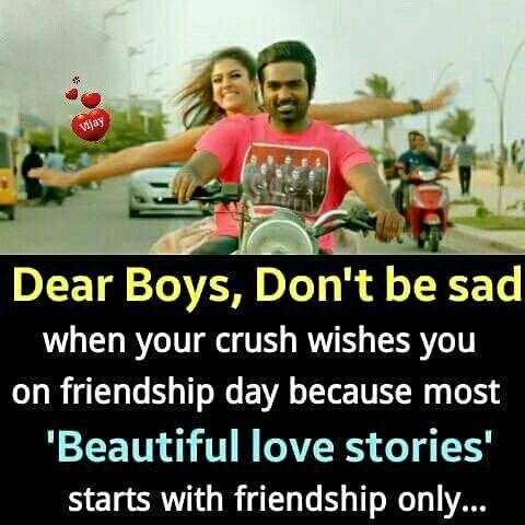 Hehe exactly!    #friendshipday #quote #thangamey #naanumrowdydhan #vijaysethupathi #nayanthara