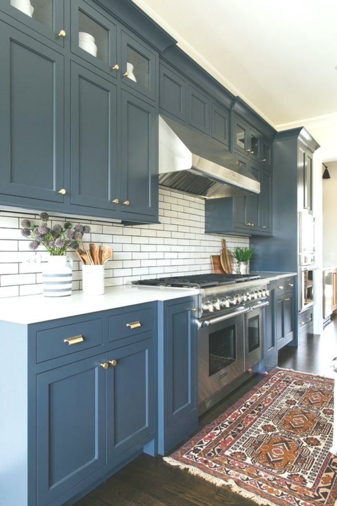 Blue Cabinets are Benjamin Moore Blue Note 2129-30 - Home Decor Design -   16 room decor Blue cabinets ideas