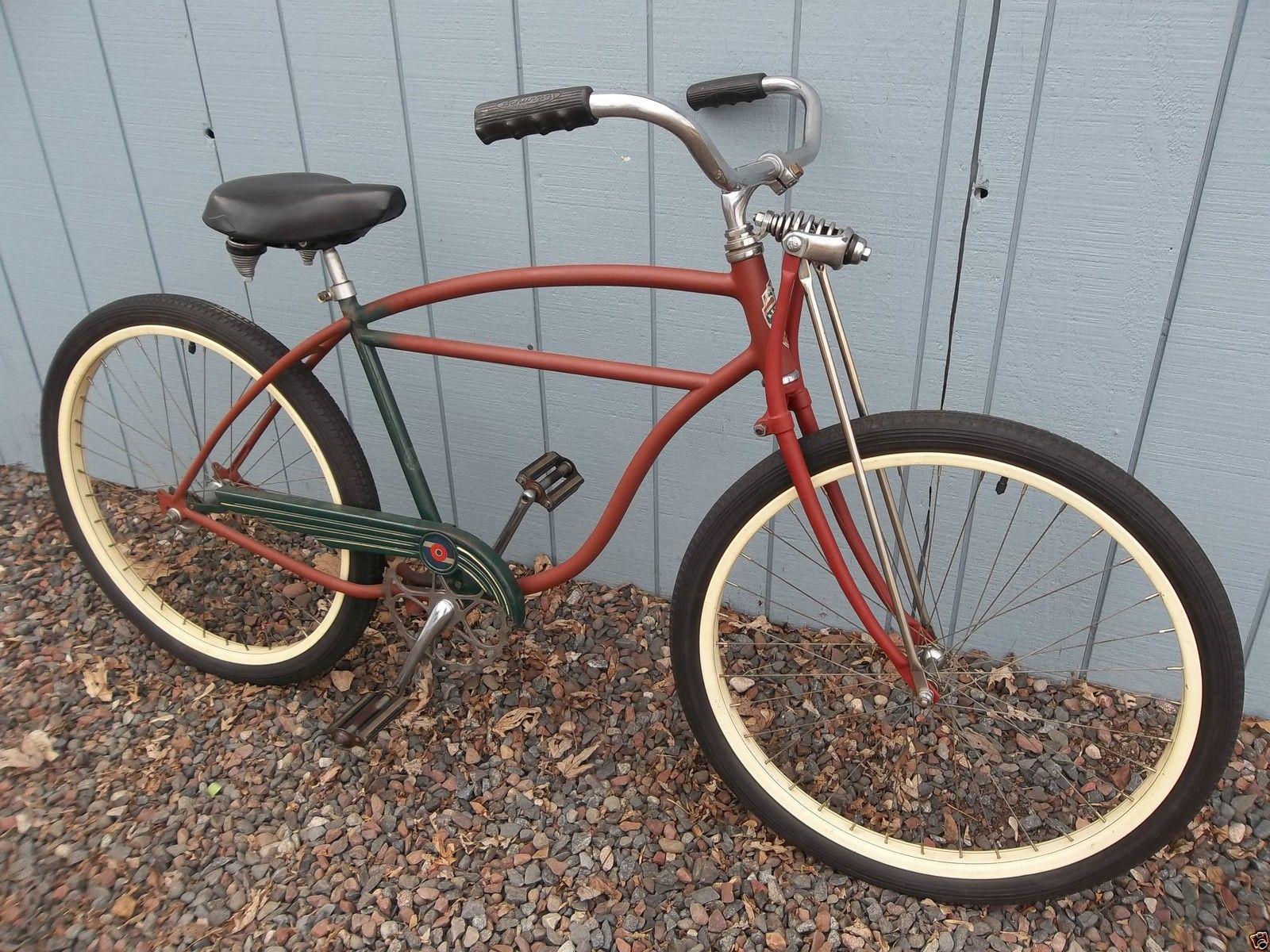 1950 Schwinn Project Bike 26 S 2 Wheels Springer Fork Straight
