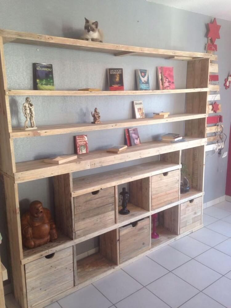 Next on our list is the brilliant idea of the amazing wood pallet