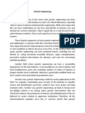 Genetic Engineering Essay Genetically Modified Food Pro And Con