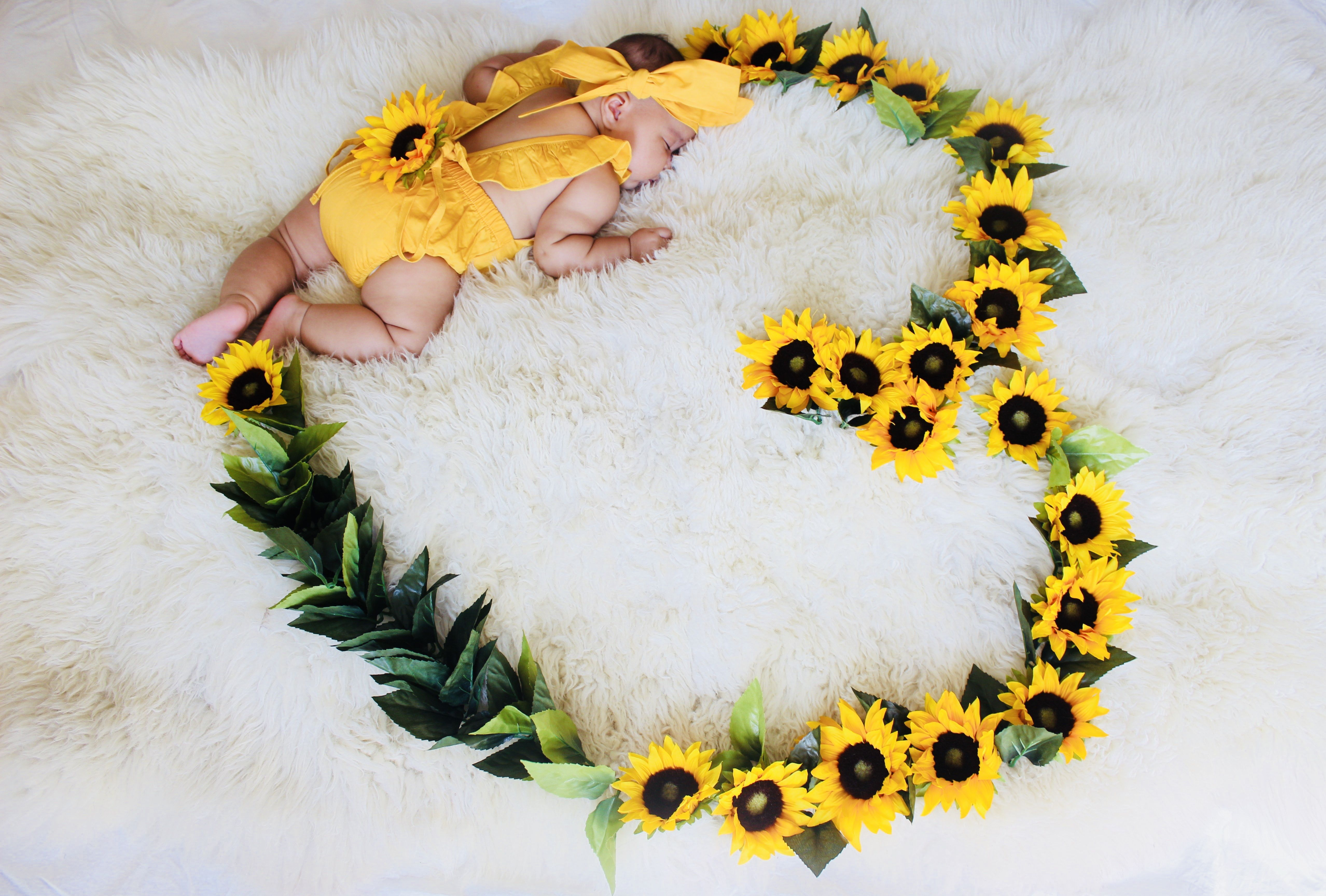 Sunflower Baby Photo Monthly Baby Photos Baby Month By Month Baby Photos