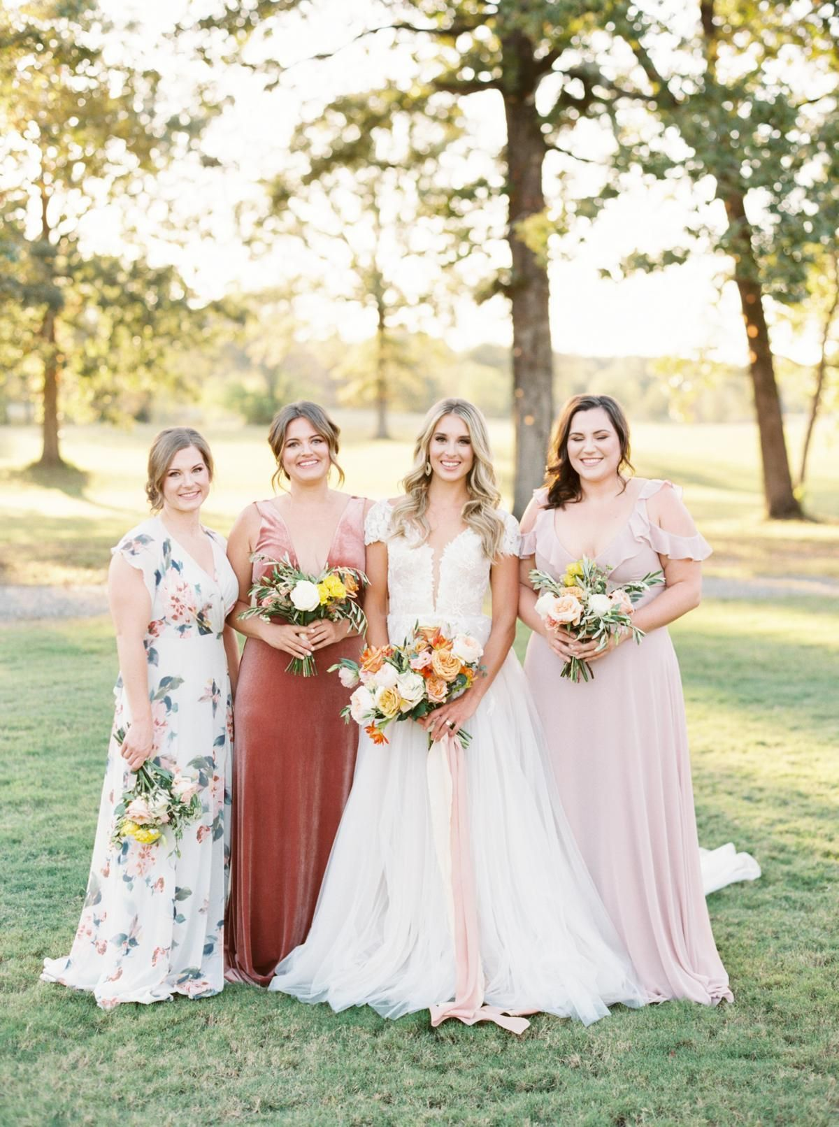 The Perfect Transitional Color Palette Between Summer And Fall Spring Bridesmaid Dresses Summer Bridesmaid Dresses Fall Bridesmaid Dresses [ 1612 x 1200 Pixel ]