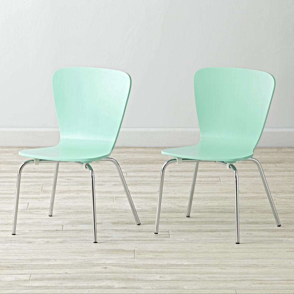Shop Set Of 2 Little Felix Mint Kids Chairs. Meet The Little Felix Kids  Chairs, A Smaller Version Of Crate And Barrelu0027s Popular Felix Chairs.