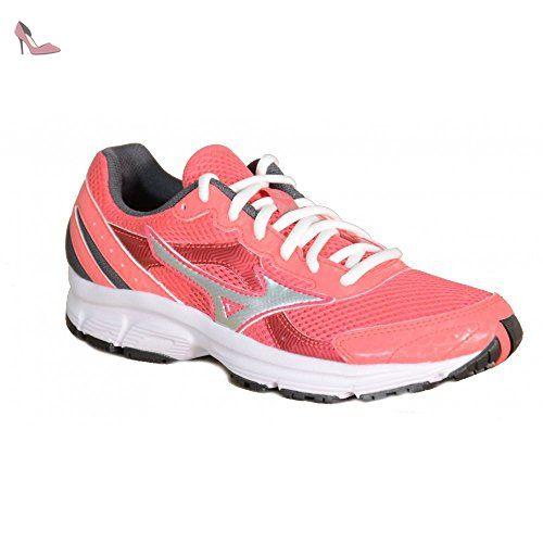 Mizuno Chaussures de Course à Pied pour Femme Mesdames Crusader 9Rosso Rosa Argento 405 - Chaussures mizuno (*Partner-Link)