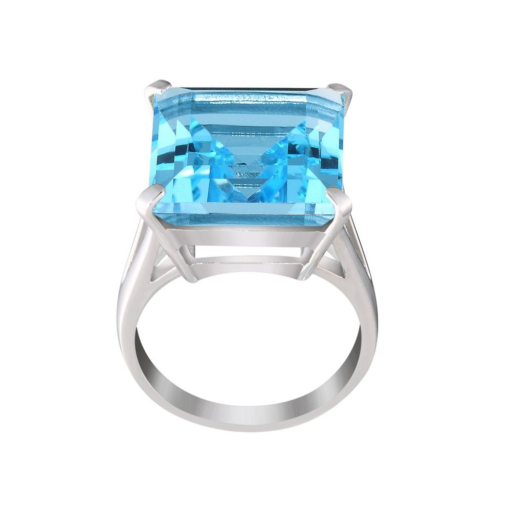 Blue Topaz Trini Cocktail Ring by Elverd Designs Annielka Luxury