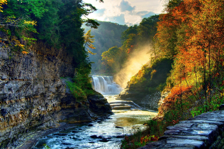 Mountain Landscape Waterfall