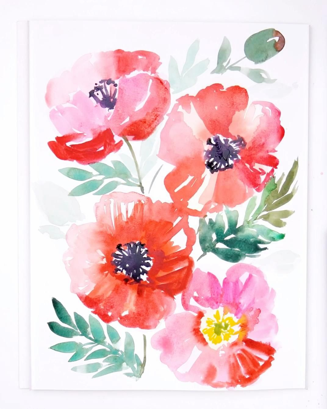 Photo of Learn to paint Loose Watercolor Poppies