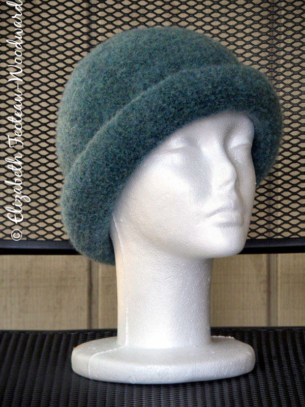 About Town-Classic Crocheted Fulled/Felted Hat | Crochet & Little ...
