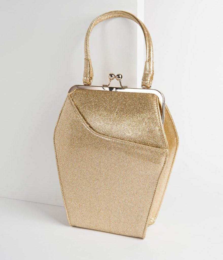 d1f3b9317b6e Gold Sparkle To Die For Purse Vintage Looks