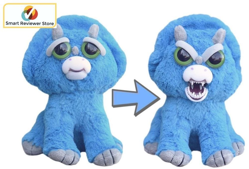 Feisty Pets Cute To Scary Stuffed Animal Plush Squeez Toy Prank
