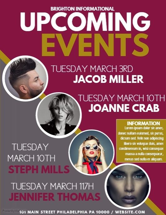 event planning poster event flyer