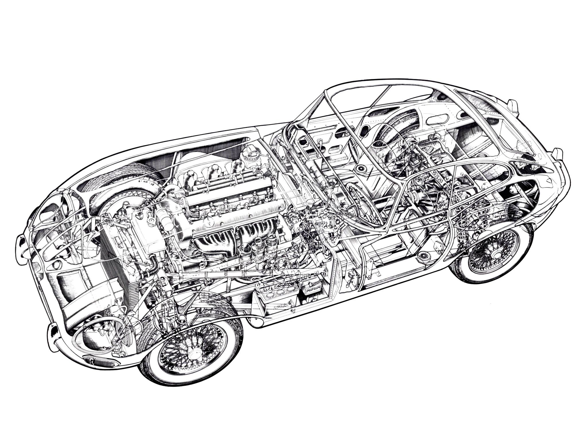 67 Jaguar E Type Fixed Head Coupe Series I