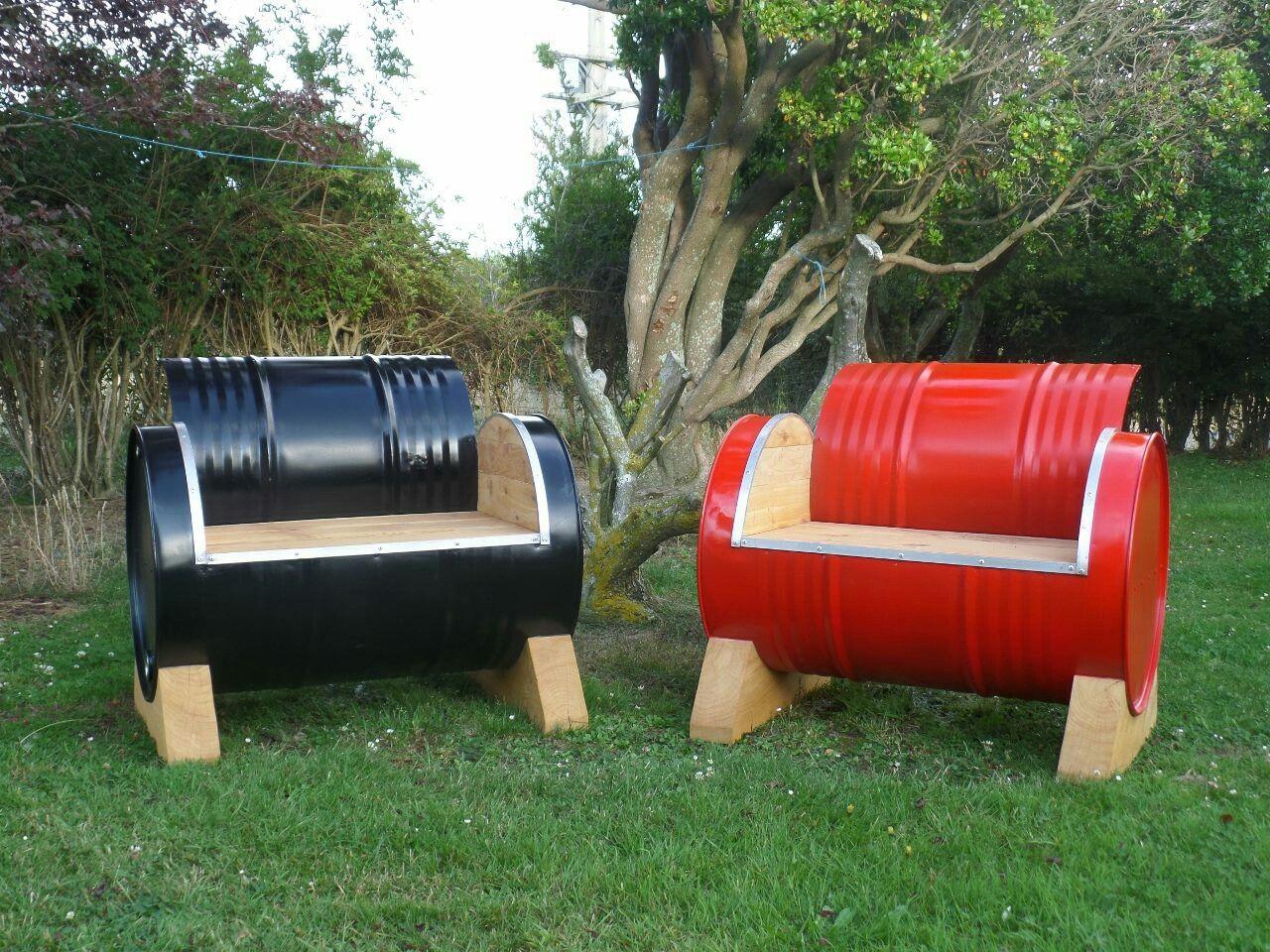 Pin De Ecomania En Reciclando Bidones Pinterest Tambor Asador  # Muebles Bidones