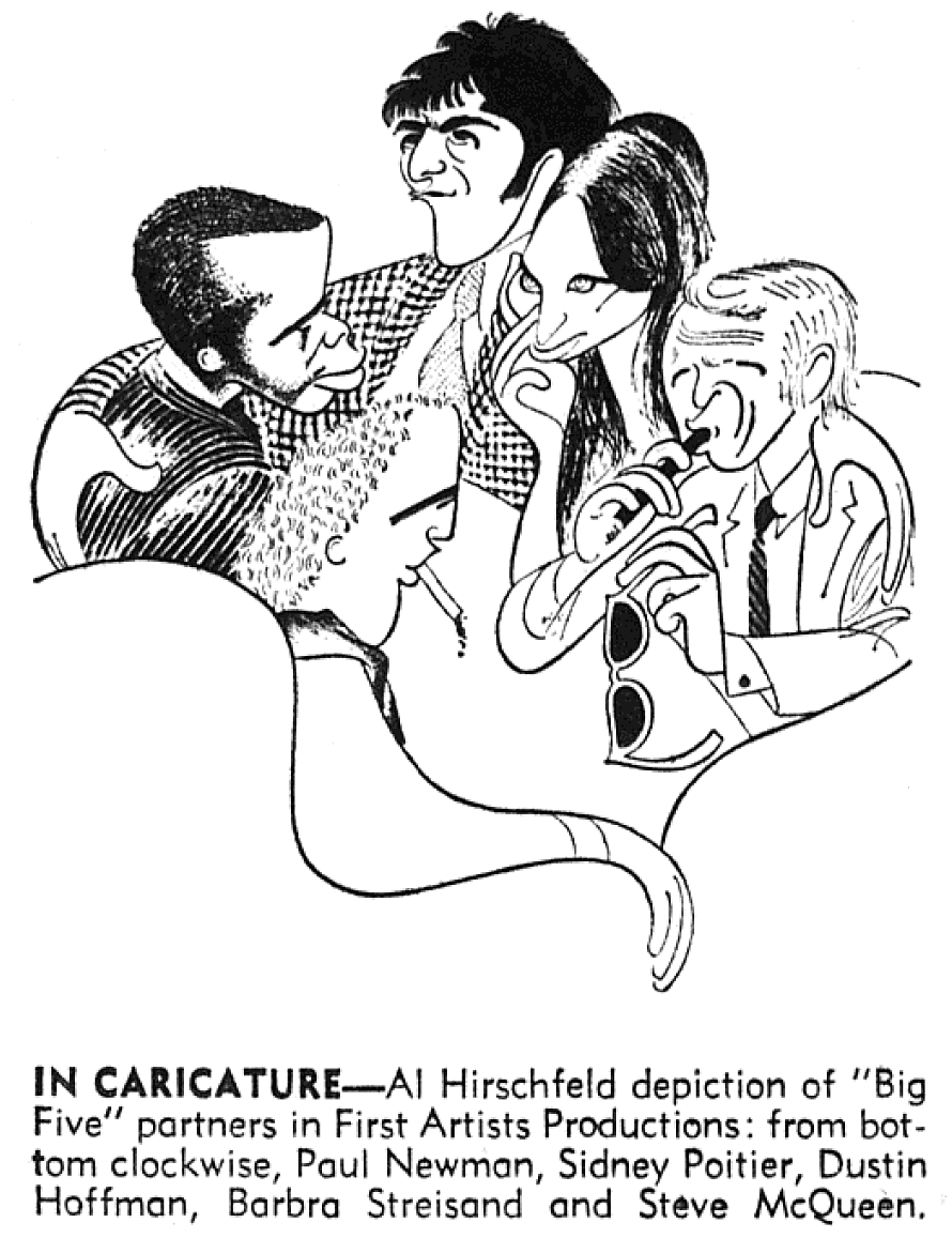 The coloring book barbra streisand - Al Hirschfeld The Five Principles Of First Artists Productions Paul Newman Sidney Poitier
