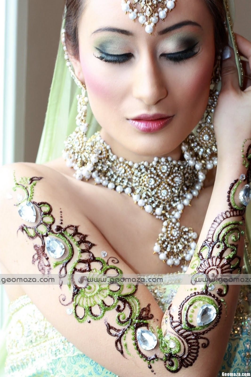 beautiful bridal glitters mehndi designs 2012 | health