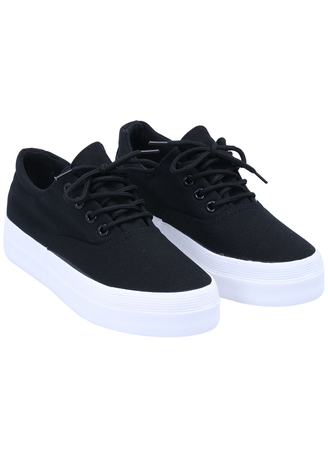 super popular ecb72 cf9bf Shop Black Round Toe Lace Up Flat Shoes online. SheIn offers Black Round  Toe Lace Up Flat Shoes   more to fit your fashionable needs.
