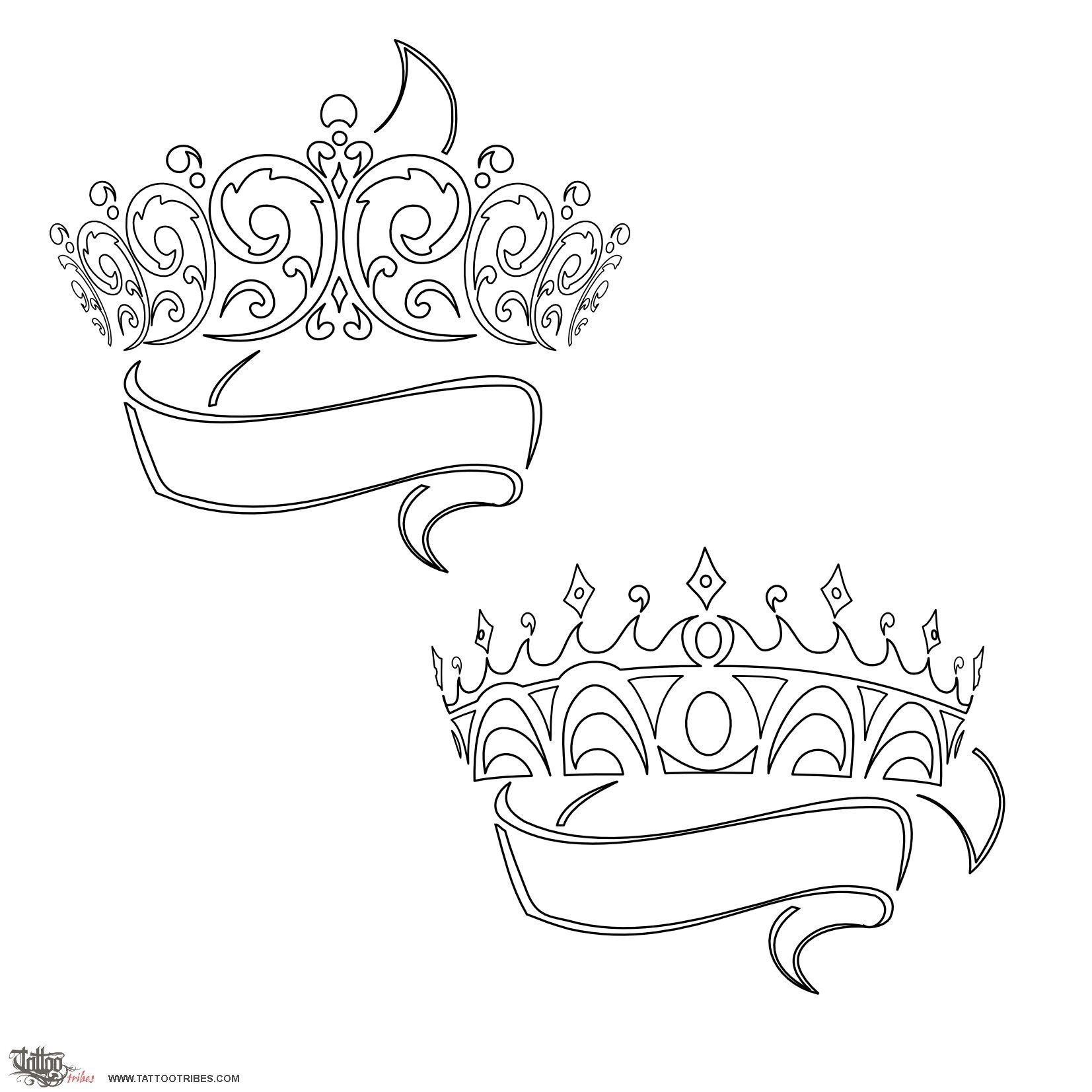 Colouring in kings and queens - Love The King And Queen Crown Idea