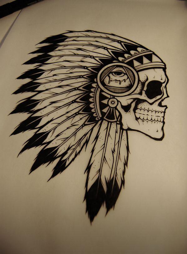 mintees tees bmth indian skull by drop art. Black Bedroom Furniture Sets. Home Design Ideas
