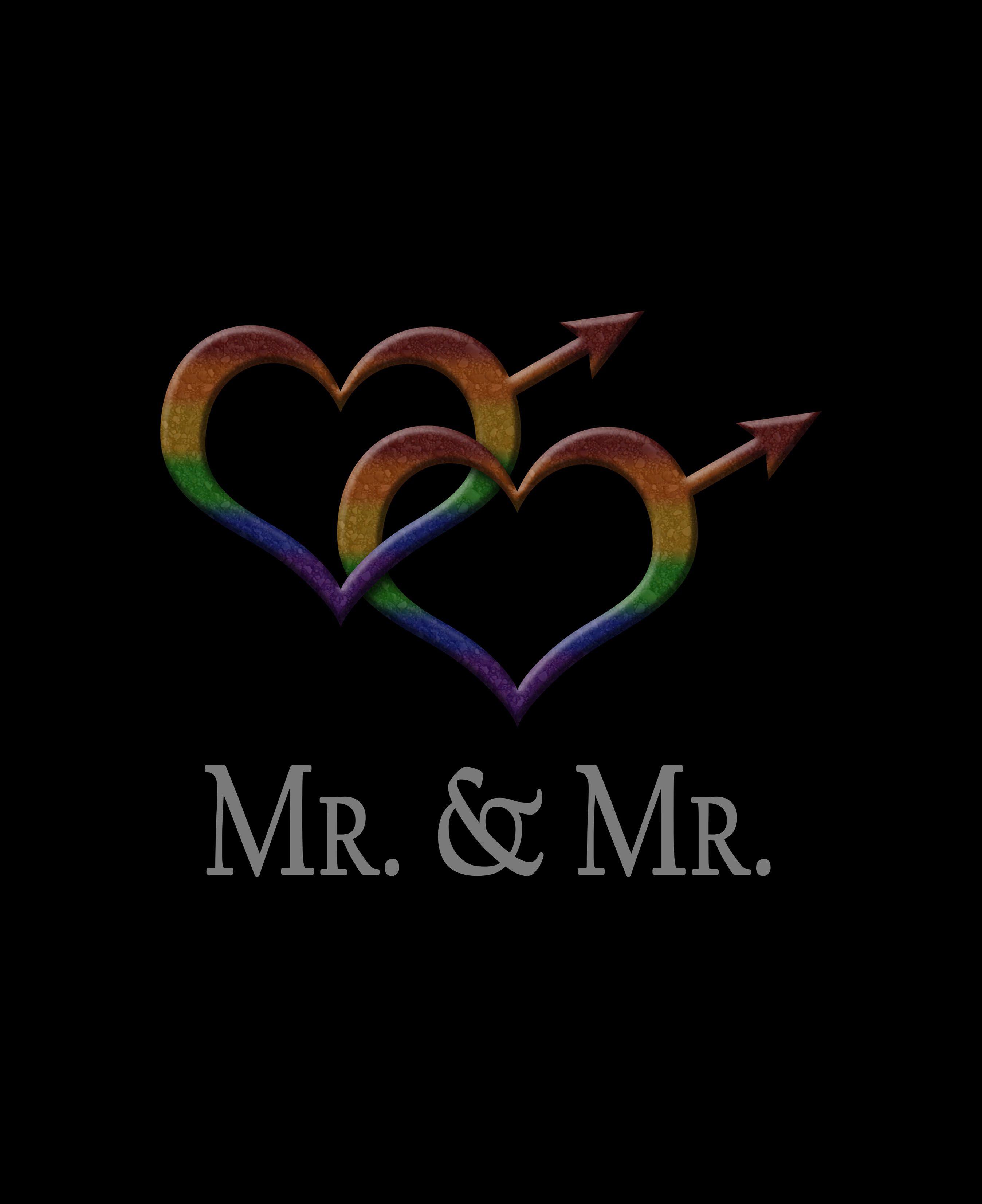 Mr Mr Gay Pride With Linked Heart Shaped Gender Symbols Click