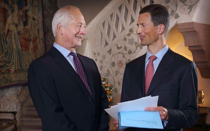 S.D. Fürst Hans-Adam II. von und zu Liechtenstein und S.D. Erbprinz Alois