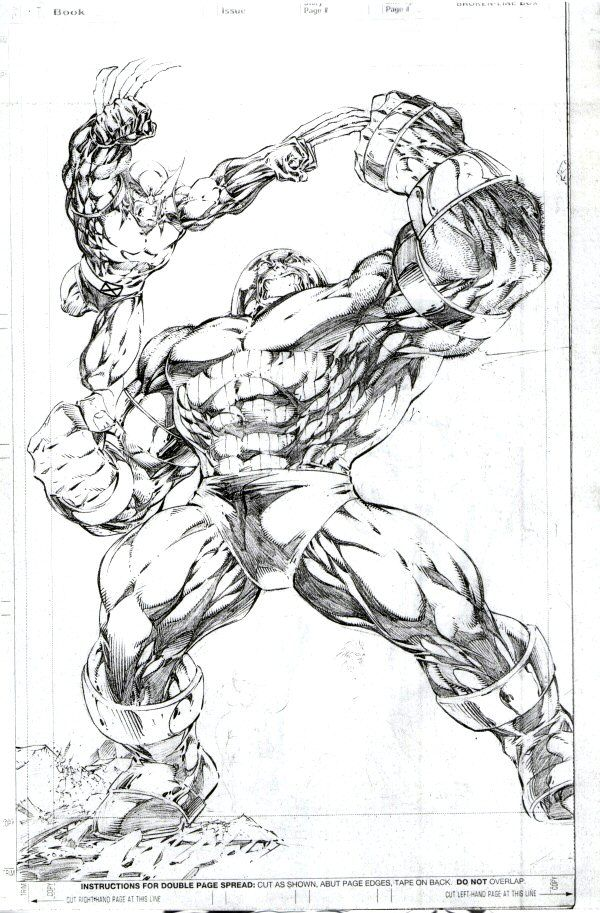 A Great Pencil Sketch Of Juggernaut Wolverine How Awesome Would It Be To Own This Original Wolverine Comic Art Wolverine Art Marvel Comic Character