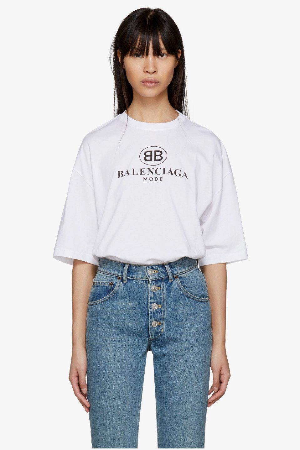 55795c14 Move Over Gucci, Balenciaga Releases Its Very Own Logo T-Shirt | 5 ...