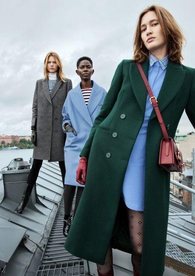 & Other Stories   It´s coat outside   dunkelgrüner Mantel ...