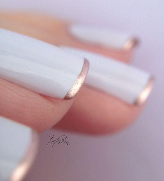 10 Maneras de pintar tus uñas con esmalte Rose Gold | Manicure ...