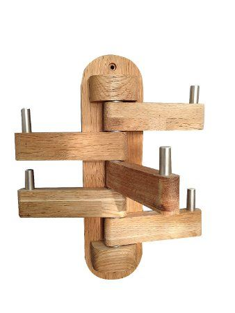 Quality Wall Hanging Adjustable Hat or Coat Rack with 5 Hooks