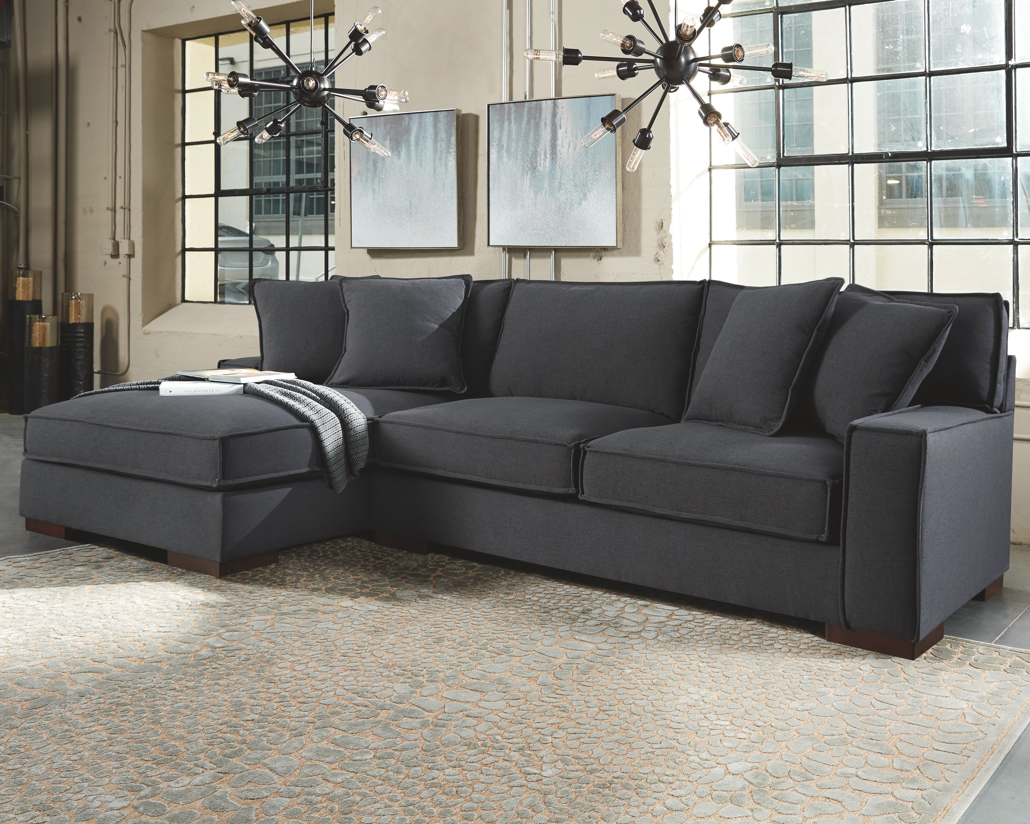 Gamaliel 2 Piece Sectional Charcoal Products In 2019 Grey