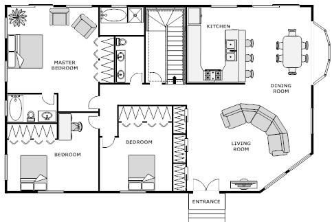 Floor Plan Design Software For Log Homes House Blueprints House Floor Plans Home Layout Design