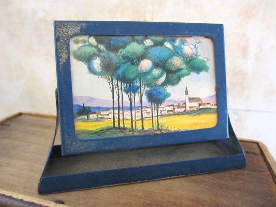 1920s-1930s small table frame / Art Deco / swivel / by fuzzandfu