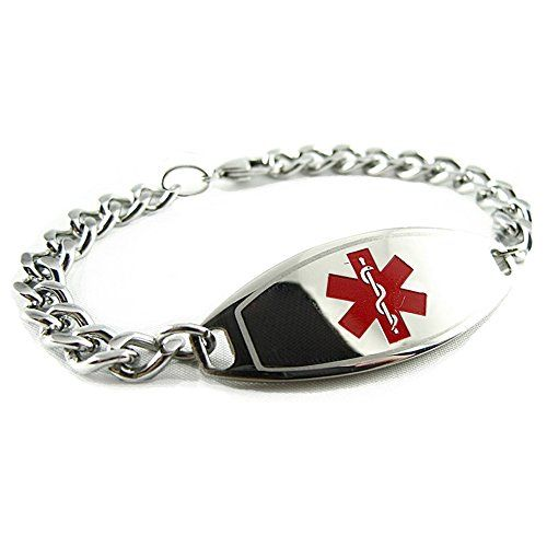 MyIDDr Custom Engraved Medical ID Bracelet 316L Steel, Teen and  Adult Medium ** Read more reviews of the product by visiting the link on the image.