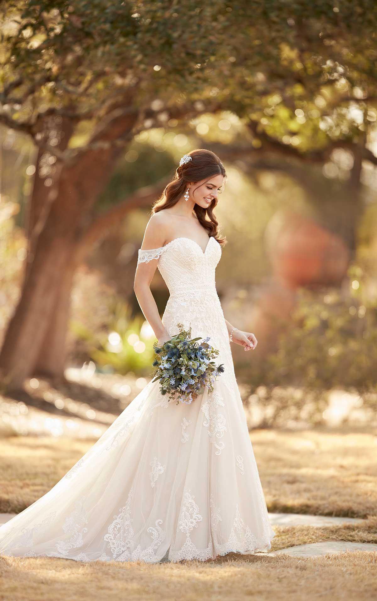 Mermaid Wedding Dress with Rich Beadwork Essense of