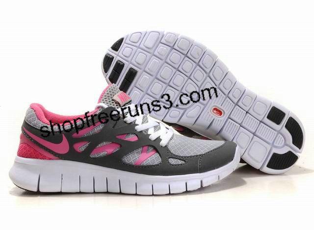 Nike Free Run +2 Womens Grey Pink