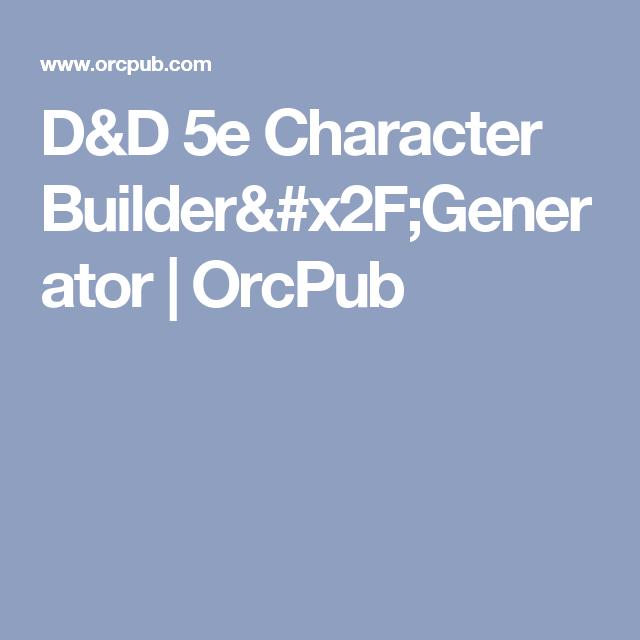 d d 5e character