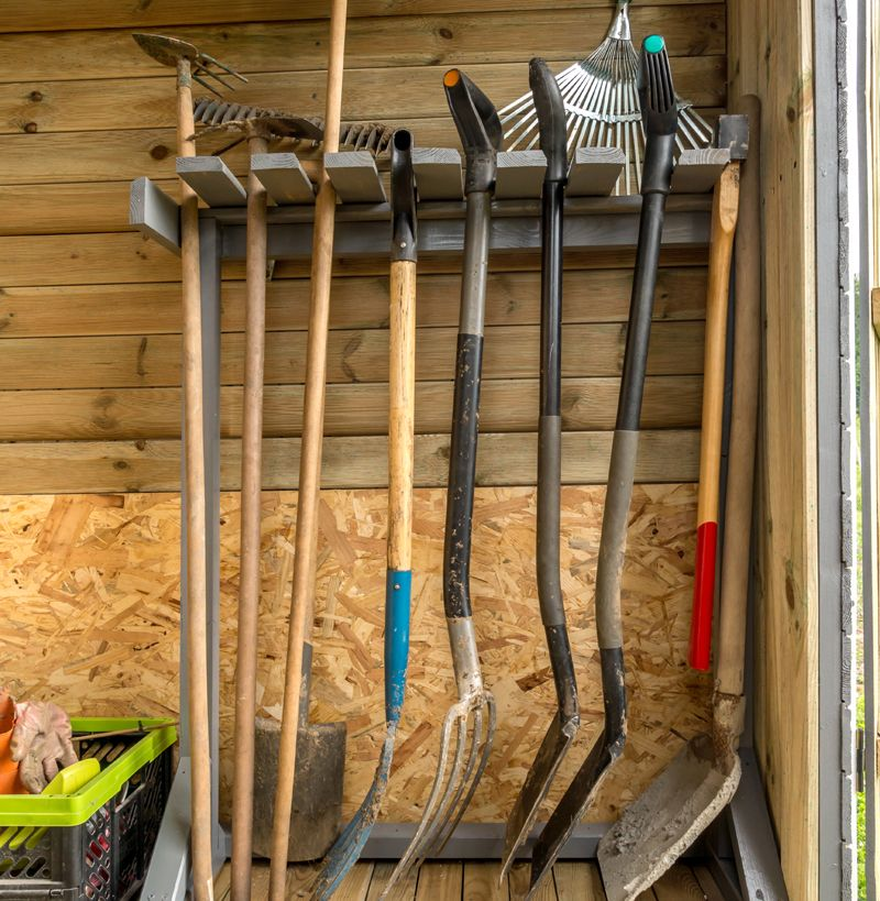 How To Organize A Storage Shed With Images Garden Tool Storage