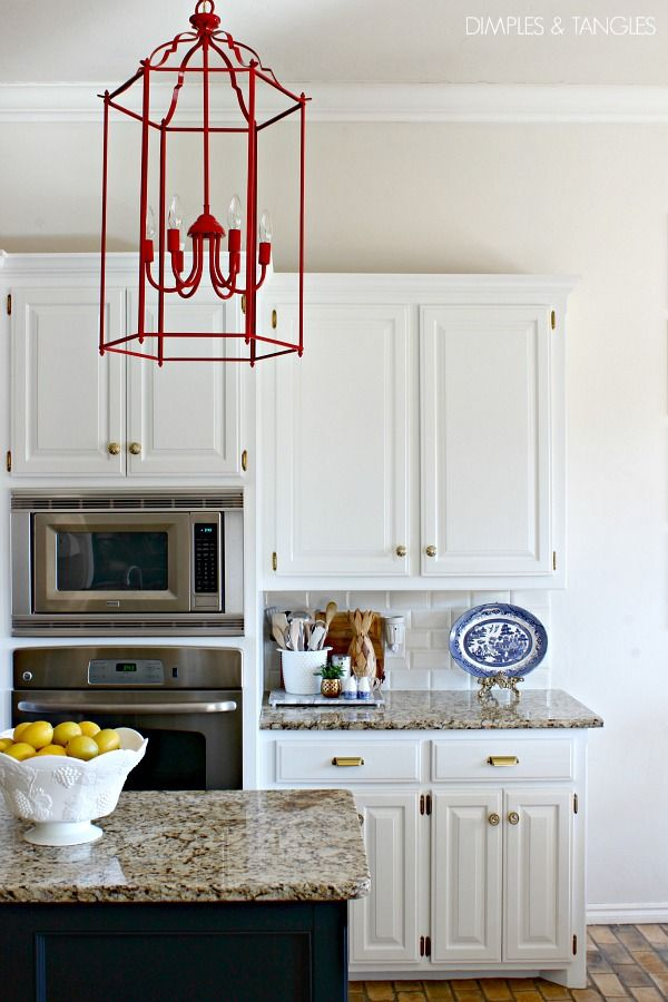 My Five Favorites Decorative Accessories  Subway Tile Backsplash Stunning Kitchen Lanterns Decorating Inspiration