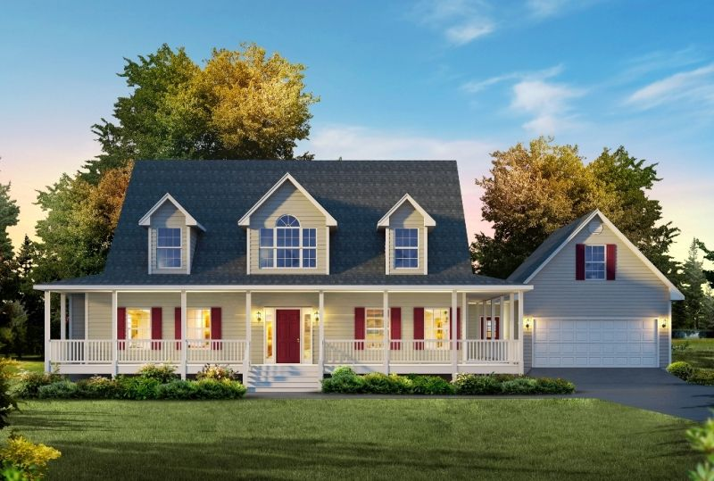 Pictures Of Capes With Front Porch Country Cape 2815 Sq Ft 4 Bedrooms 3 Baths Layout Two Story Cape Cod Porch House Plans Cape Cod House Plans House Styles