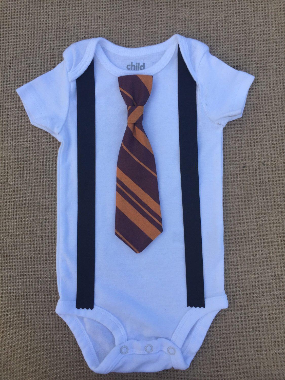 Baby boy harry potter hogwarts gryffindor snap on tie