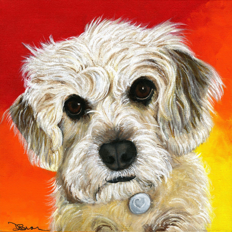 custom painting, dog portrait, pet portrait Custom pet