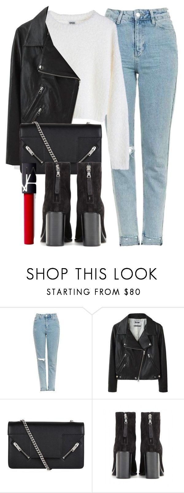"""""""Untitled #6068"""" by laurenmboot ❤ liked on Polyvore featuring Topshop, MTWTFSS Weekday, Acne Studios, Yves Saint Laurent, rag & bone and NARS Cosmetics"""