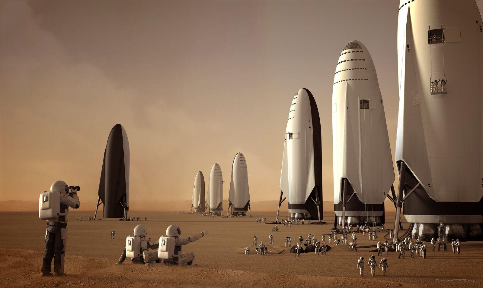 Risultato immagini per mars colony space x
