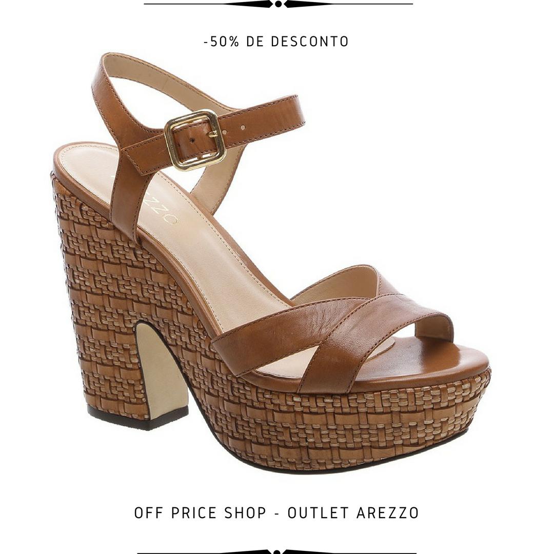 ad37ce921 Sandália Arezzo de $319,90 por $159,90 - Tamanhos 34 e 38 #Arezzo #Sapatos  #Calçados #Outlet #Sandália #SaltoAlto #moda #offpriceshop  #loucasporsapatos ...
