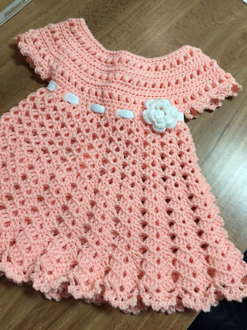 Easy to make dress | Crochet Baby Dresses\'n\'Outfits | Pinterest ...