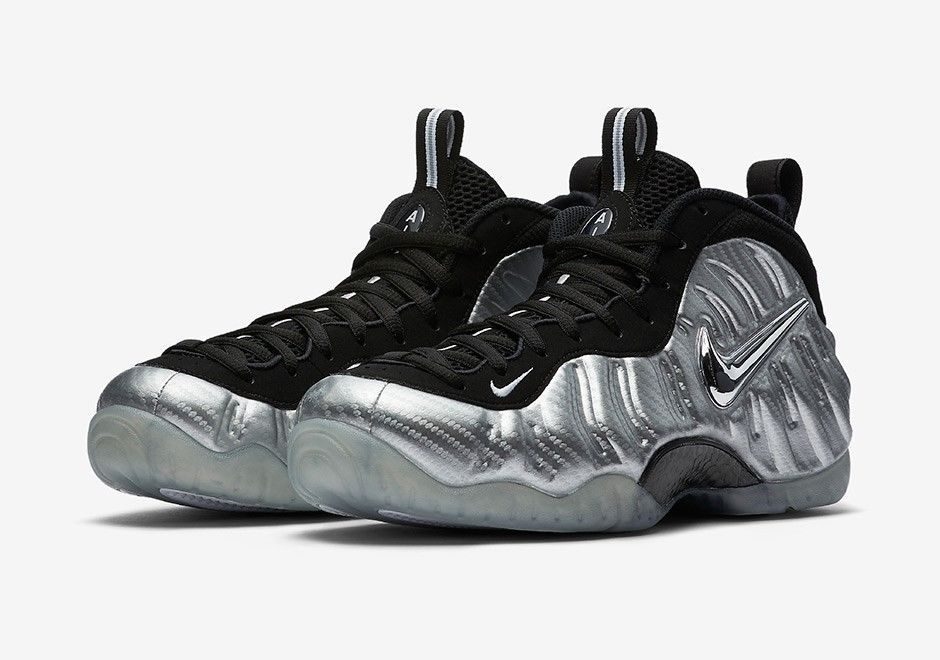 Nike Air Foamposite Pro Silver Surfer Metallic Silver 75 AUTHENTIC  616750 004