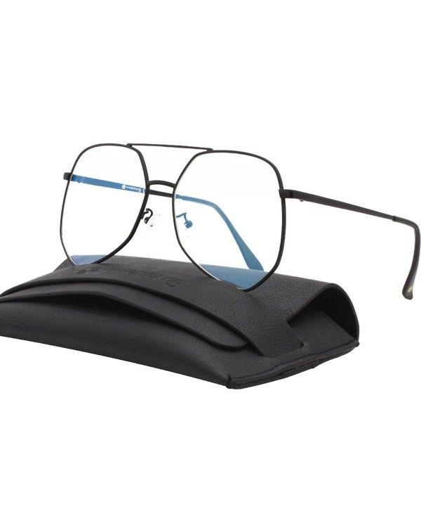 328ba665dd2 Oversized Sunglasses Mirrored 87070A - Black Frame Clear Lens ...